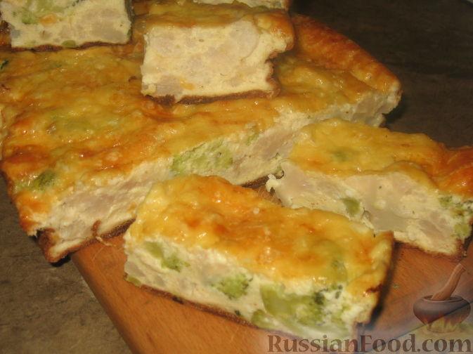 Рецепт Пирог с цветной капустой и брокколи
