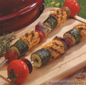 Рецепт Шашлыки из овощей и кукурузы