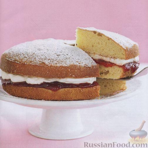 Рецепт Торт со сливками и клубничным джемом