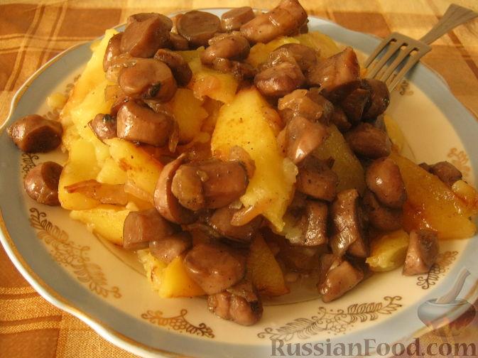белые грибы в духовке с картошкой в духовке рецепт с фото