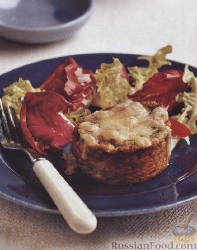 Рецепт Картофельное суфле со шпинатом и сыром