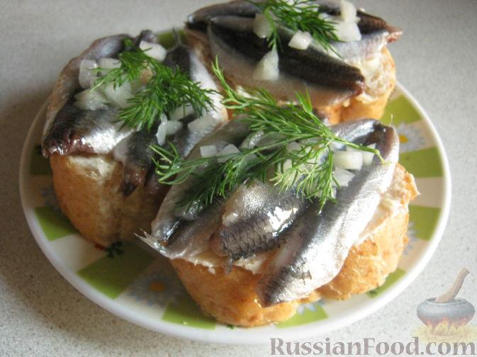 Рецепт Бутерброды с хамсой