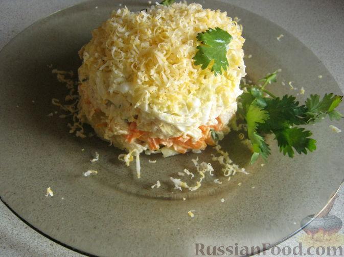 Рецепт Слоеный салат с курицей