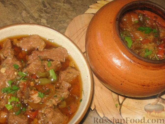 Рецепт Острое мясо по-аргентински в горшочке