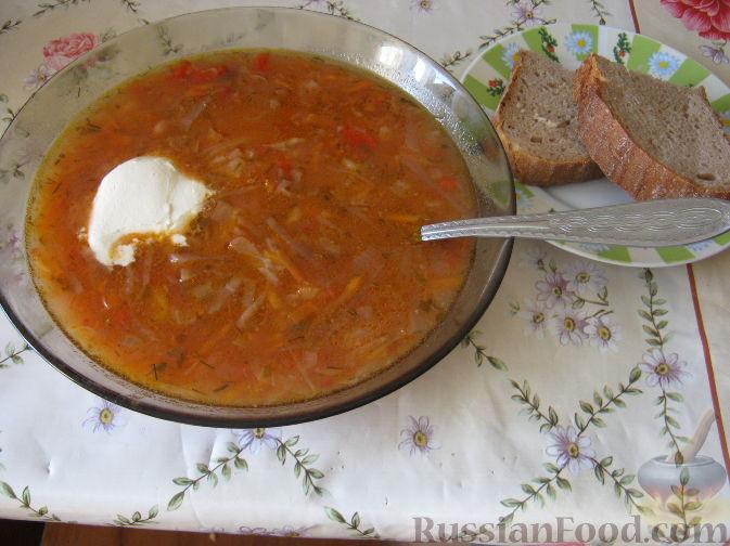 Рецепт Борщ красный с фасолью