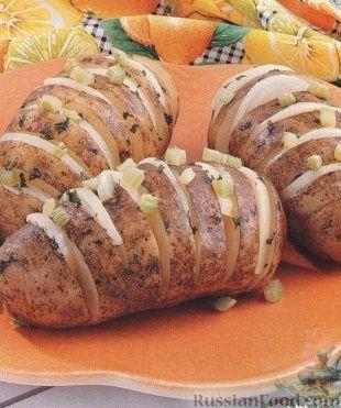 Рецепт Картофель, запеченный с луком на гриле