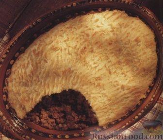 Рецепт Пирог из мяса и картофельного пюре