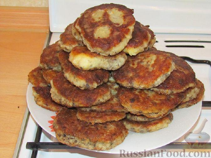 Рецепт Картофельные оладьи с грибами и луком