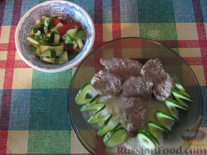 Рецепт Аб гош (баранина, томленная в молоке)