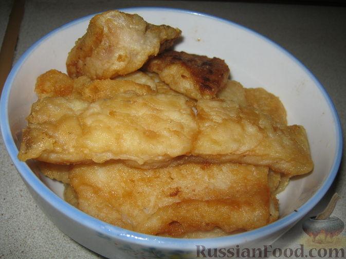 Рецепт Жареное филе пангасиуса