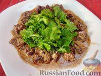 Фото к рецепту: Тёплый салат из куриной печени