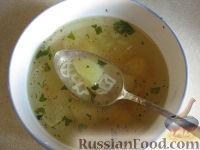 Фото к рецепту: Суп куриный с засыпкой
