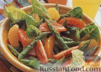 Фото к рецепту: Салат из помидоров, спаржи и апельсинов