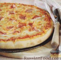 Фото к рецепту: Пицца с ветчиной