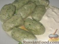 Фото к рецепту: Странголапрети (ньокки со шпинатом)