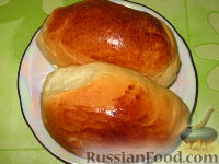 Фото к рецепту: Пирожки печеные из дрожжевого теста (опарный способ)