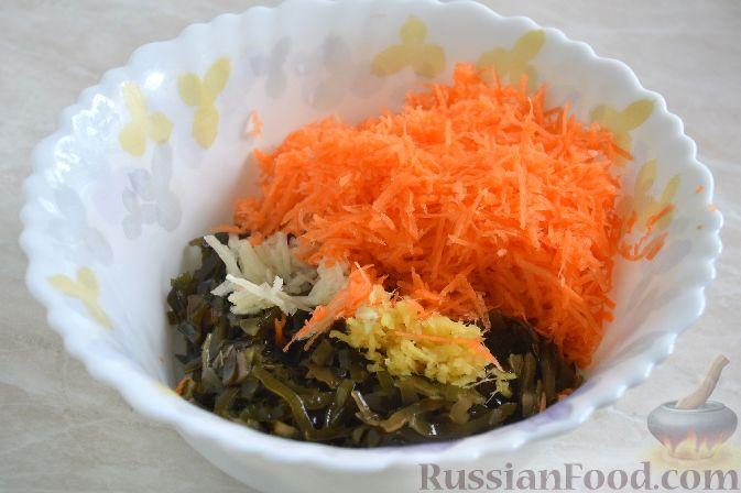 рецепт салата из капусты и морской капусты