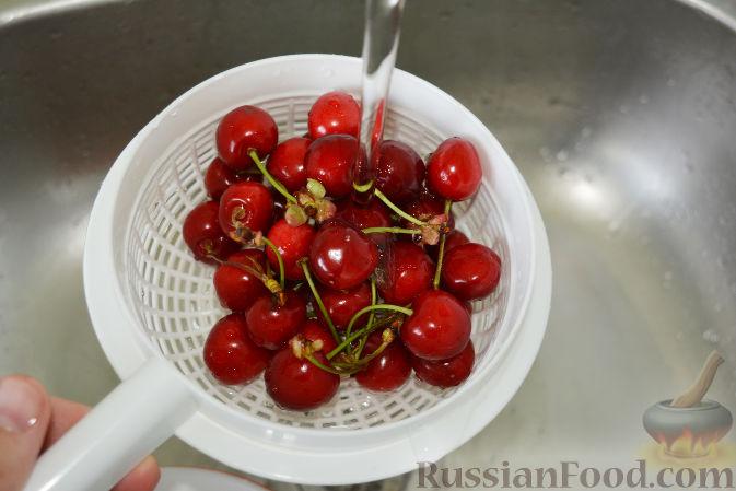Фото приготовления рецепта: Маринованная черешня (на зиму) - шаг №2