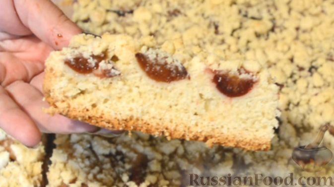 Фото приготовления рецепта: Песочный пирог со сливами - шаг №9