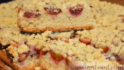 Фото приготовления рецепта: Песочный пирог со сливами - шаг №10