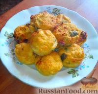 Фото к рецепту: Овощное суфле с курицей