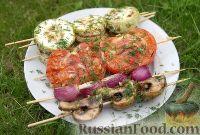 Фото к рецепту: Овощи на шпажках, на мангале