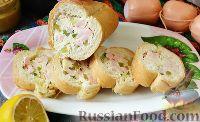 Фото к рецепту: Фаршированный багет