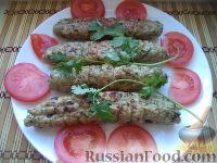 Фото к рецепту: Люля-кебаб из курицы и свинины