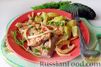 Фото к рецепту: Кефаль, маринованная в томатном соусе