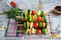 Фото приготовления рецепта: Овощная закуска «Маринованные шашлычки» - шаг №6