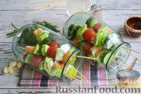 Фото приготовления рецепта: Овощная закуска «Маринованные шашлычки» - шаг №7