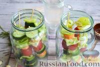 Фото приготовления рецепта: Овощная закуска «Маринованные шашлычки» - шаг №8