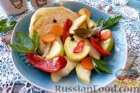 Фото к рецепту: Овощи, маринованные с яблоками