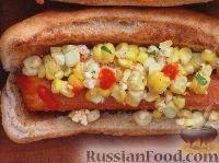 Фото к рецепту: Хот-дог с кукурузным салатом