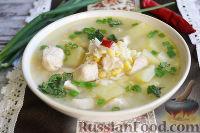 Фото к рецепту: Гороховый суп с курицей и рисом