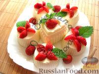 Фото к рецепту: Кокосовые пирожные (без выпечки)