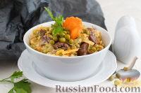 Фото к рецепту: Салат с куриной печенью