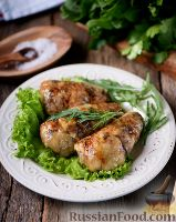Фото к рецепту: Фаршированные куриные голени