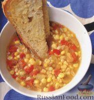 Фото к рецепту: Овощной суп с кукурузой