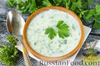 Фото к рецепту: Картофельный суп-пюре с огурцами