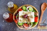 """Фото к рецепту: Салат """"Хорьятики"""" (греческий салат)"""