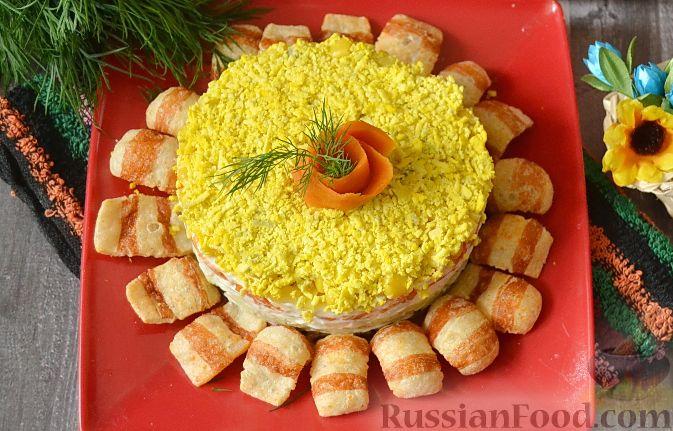 Салат подсолнух с шпротами рецепты с