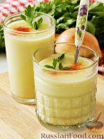 Фото к рецепту: Суп-пюре из кабачков с плавленым сыром