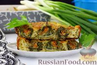 Фото к рецепту: Запеченные кабачковые рулетики под яично-сырной заливкой