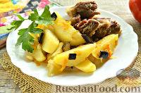 Фото к рецепту: Яхны (баранина с баклажанами и картофелем)