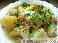 Фото к рецепту: Овощное рагу с зеленым горошком