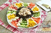 Фото к рецепту: Праздничный салат с курицей