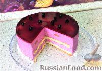 """Фото к рецепту: Муссовый торт """"Чёрная смородина"""""""