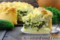 Фото к рецепту: Пирог с солеными огурцами
