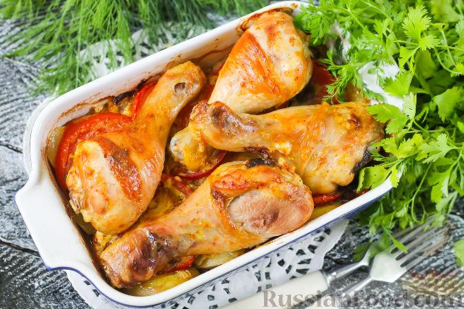 рис с овощами и куриными ножками в духовке рецепт с фото пошагово